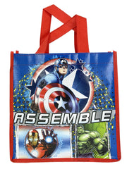 "Marvel 10"" Tote Bag Captain America w/ Avengers Molded Zippered Pencil Case"