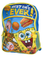 "Spongebob Squarepants Backpack 16"" and Detachable Insulated Lunch Bag 2Pc Set"