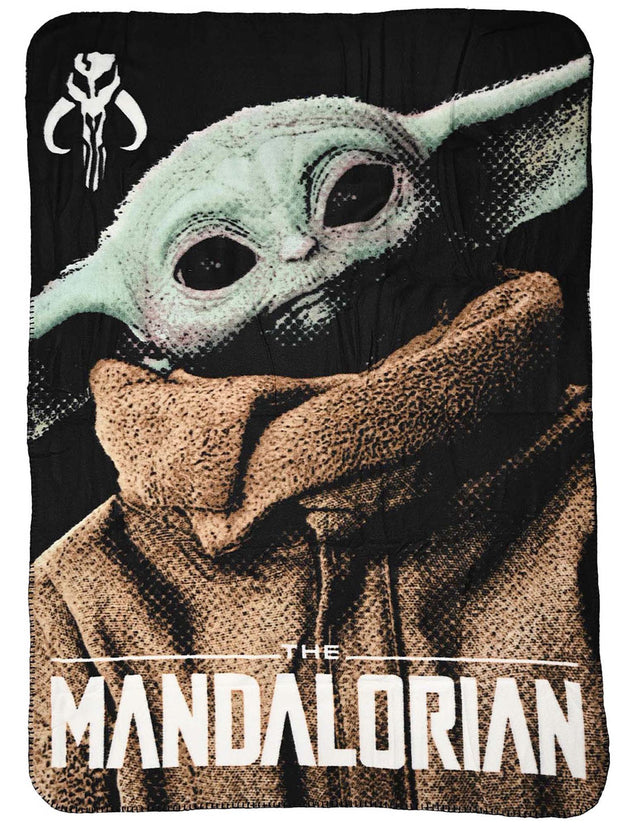 "Star Wars Disney The Mandalorian Throw Blanket 45"" x 60"" Baby Yoda"