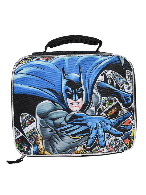 DC Comics Batman Insulated Lunch Bag Comic Book Print 9""