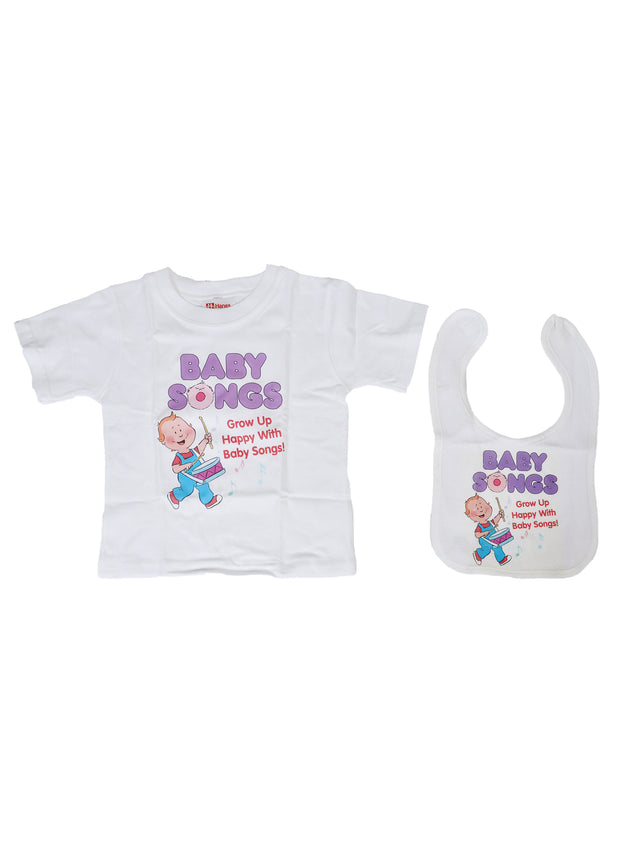 Baby Songs 8 DVD Gift Set 4T T-Shirt Bib Music Videos Hap Palmer Babysongs