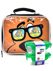 Scooby Doo Insulated Lunch Bag Cool Sunglasses w/ 2-Piece Food Container Set