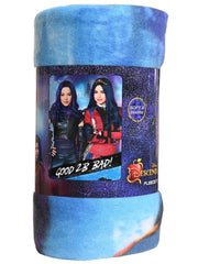 "Disney Descendants Fleece Throw Blanket It's Good 2B Bad Mal Evie 45"" x 60"""