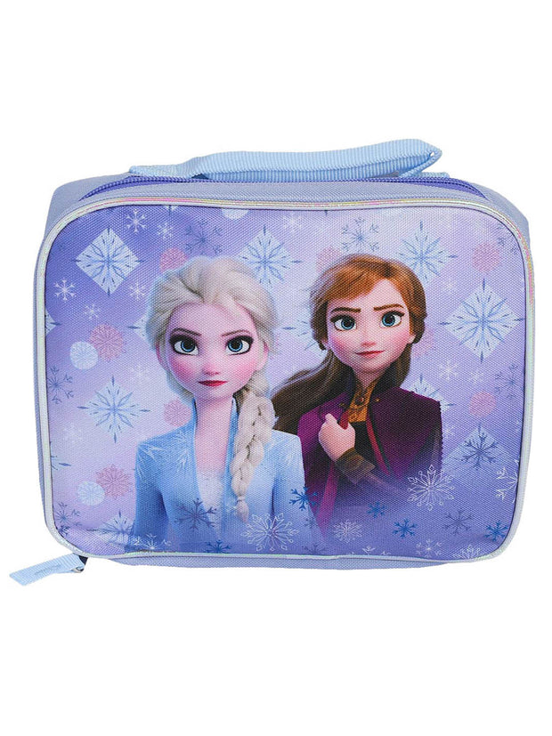 Frozen II Insulated Lunch Bag Elsa Snowflakes & 16oz Pull Top Water Bottle Set