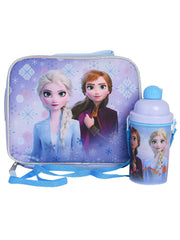 Disney Frozen II Purple Insulated Lunch Bag w/ 12oz Water Bottle Popup Lid