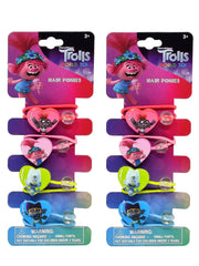 Dreamworks Girls Trolls World Tour Heart Hair Ponies Ties Poppy Branch (8-CT)