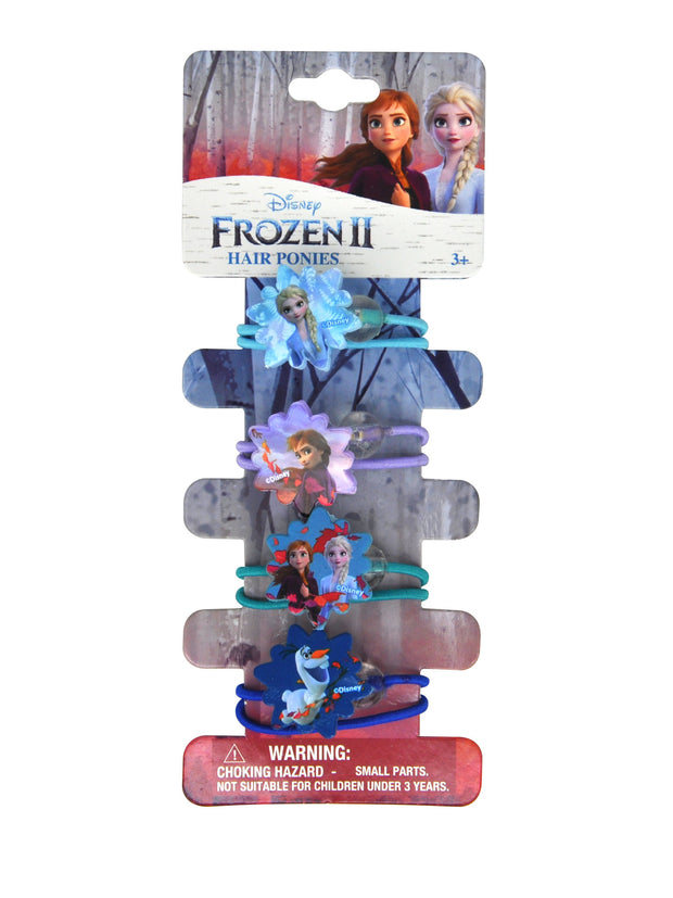 Disney Frozen II Elsa Anna Olaf Hair Ties Ponies (4-Ct)