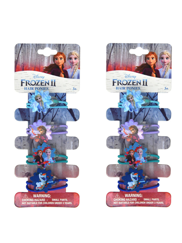 Frozen II Elsa Anna Olaf Girls Elastic Hair Ties Ponies 8-CT