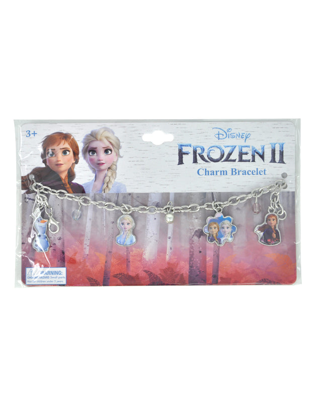 "Disney Frozen 15"" Backpack Keeping The Magic w/ Girls Charm Bracelet Elsa Olaf"