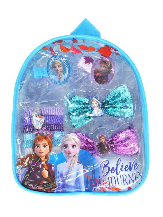 Disney Frozen II Hair Accessory Backpack (10-Pcs) & Charm Bracelet 2-Piece Set