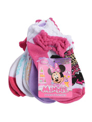 Girls Toddler Minnie Mouse Ankle Socks (6-PAIRS) Size 2T-3T