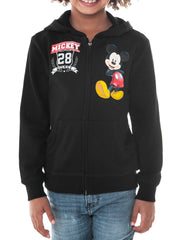 Boys Mickey Mouse Zip-up Hoodie Sweatshirt Black