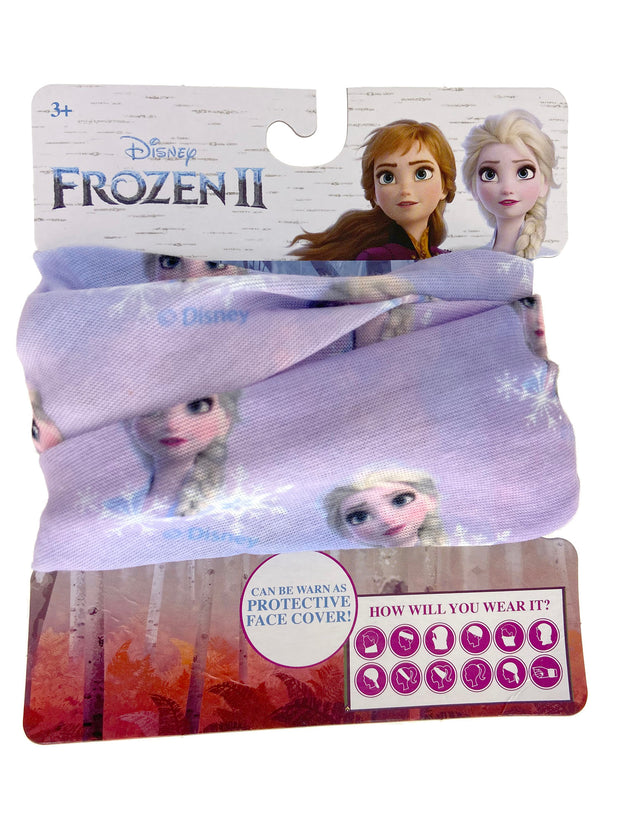 Disney Kids Girls Frozen Elsa All-Over Print Neck Gaiter Wrap Lightweight