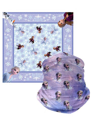 Kids Disney Frozen Face Cover Wrap & Girls Bandana All-Over Print Anna Elsa
