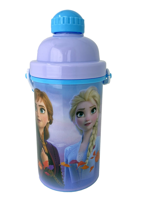 Frozen II Anna Elsa Olaf Canteen Water Bottle 12oz Popup Lid & Shoulder Strap