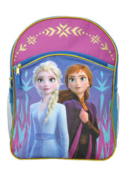 "Disney Frozen II 16"" Backpack & Tumbler Cup w/ Straw Pink 2-Pcs Set"