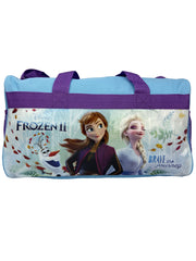 Disney Frozen II Duffel Bag Carry-On Brave Journey w/ Anna Elsa Charm Bracelet