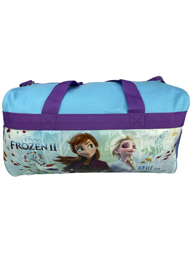 "Disney Frozen II Duffel Bag Elsa Anna Carry-on ""Brave The Journey"""