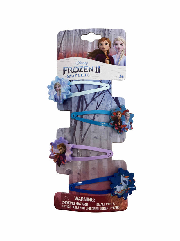 Girls Disney Frozen II Hair Snap Clips (8 Count)