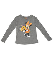 Minnie Mouse Girls Halloween Long Sleeve Shirt Ages 8-15 Gray