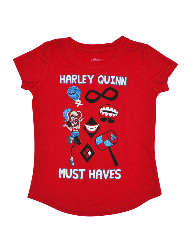Harley Quinn Girls Short Sleeve Graphic T-Shirt