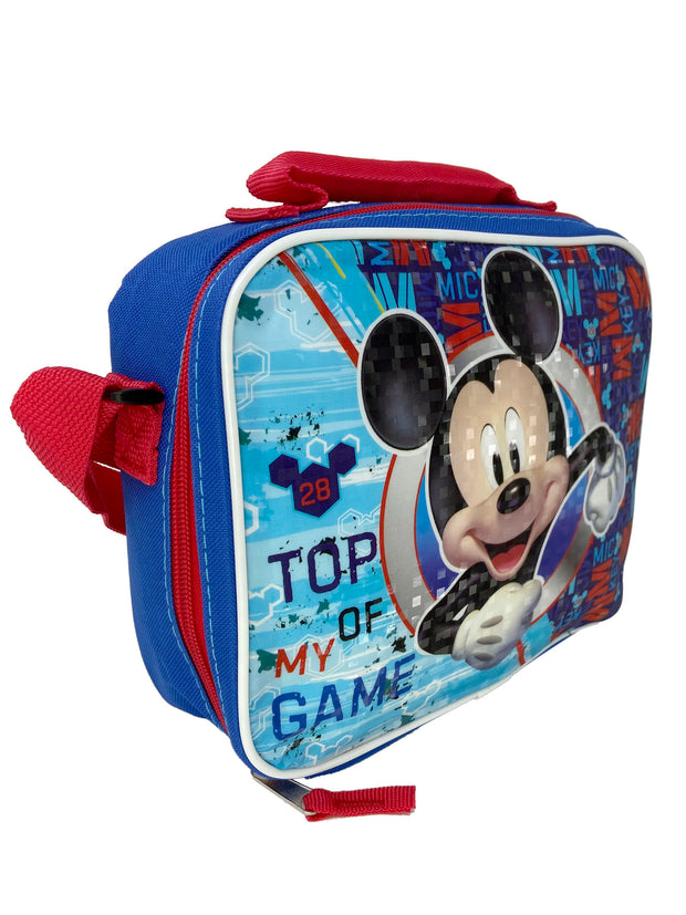 Disney Mickey Mouse Insulated Lunch Bag Top of My Game With Shoulder Strap