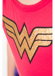 Wonder Woman Girls Tutu Costume Red Dress