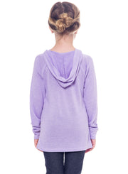 Disney Princesses Cinderella Rapunzel Belle Girls Hoodie Shirt Purple