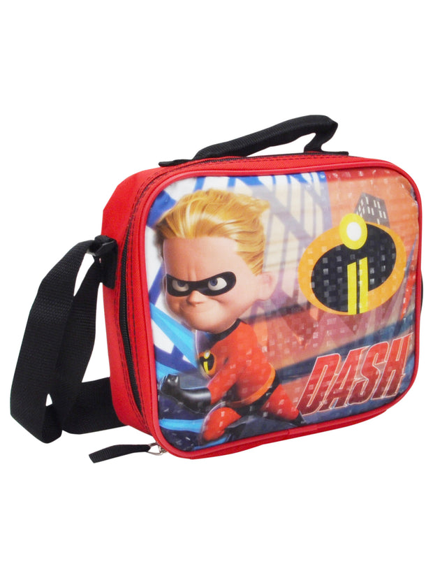 Boys The Incredibles Dash Insulated Lunch Bag with Shoulder Strap