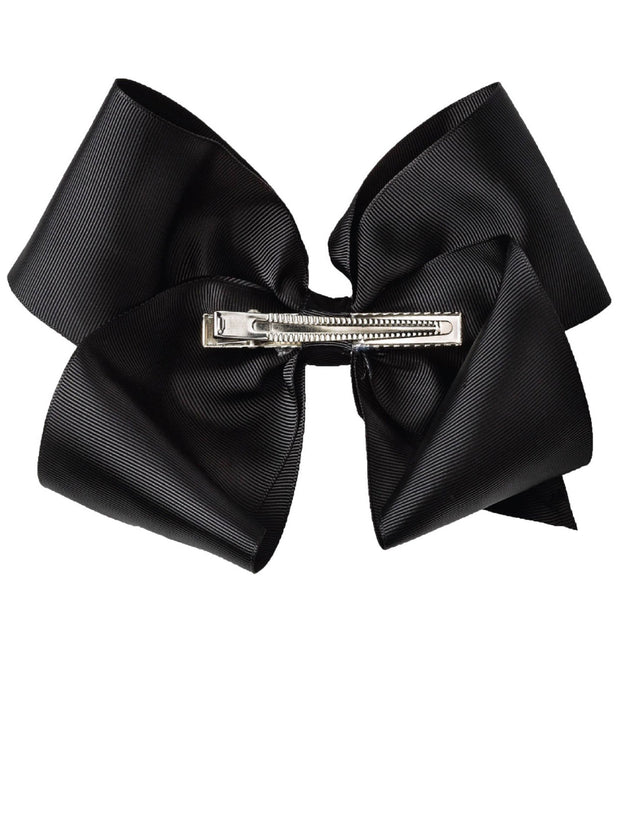 Girls JoJo Siwa Black Bow Metallic Rainbow Drip Hair Barrette Clip-On