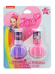 JoJo Siwa Girls Drawstring Sling Bag w/ Nail Polish Scented 2 Bottle Set
