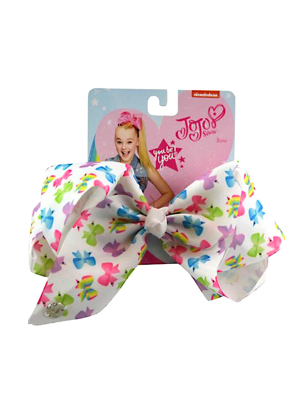 Girls JoJo Siwa Bow All-Over Print Hair Clip White
