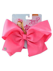 JoJo Siwa Pretty Pink Bow & Black Bow w/ Metallic Rainbow Hair Clip 2 Piece Set