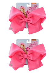 Girls JoJo Siwa Large Hair Clip-On Pink Bow 2-Pack