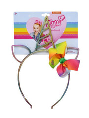 JoJo Siwa Kids Girls Unicorn Headband w/ Tie-Dye Face Cover & Face Mask 3 Piece