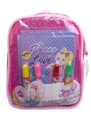 JoJo Siwa Art Activity and Mini Backpack Set  w/ Cosmetic Purse Bag & Lip Gloss