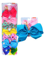 JoJo Siwa 7 Days of the Week Bows w/Cupcakes and Donuts & Large Blue Bow Set