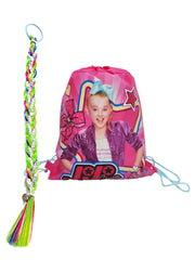 JoJo Siwa Girls Party Braid Hair Clip w/Sequin Strip & Sling Bag 2-Piece Set