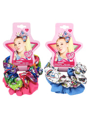 JoJo Siwa Hair Scrunchies Unicorn w/ Large Clip-On Hair Bow & Bandana 6 PC Set