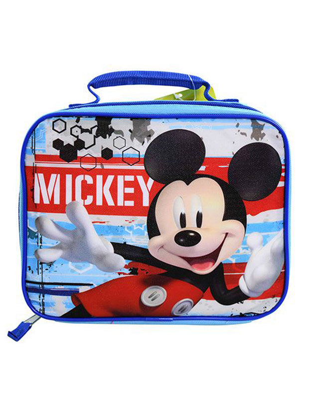 Mickey Mouse Posing Insulated Lunch Bag Blue Red Stencil Graphics