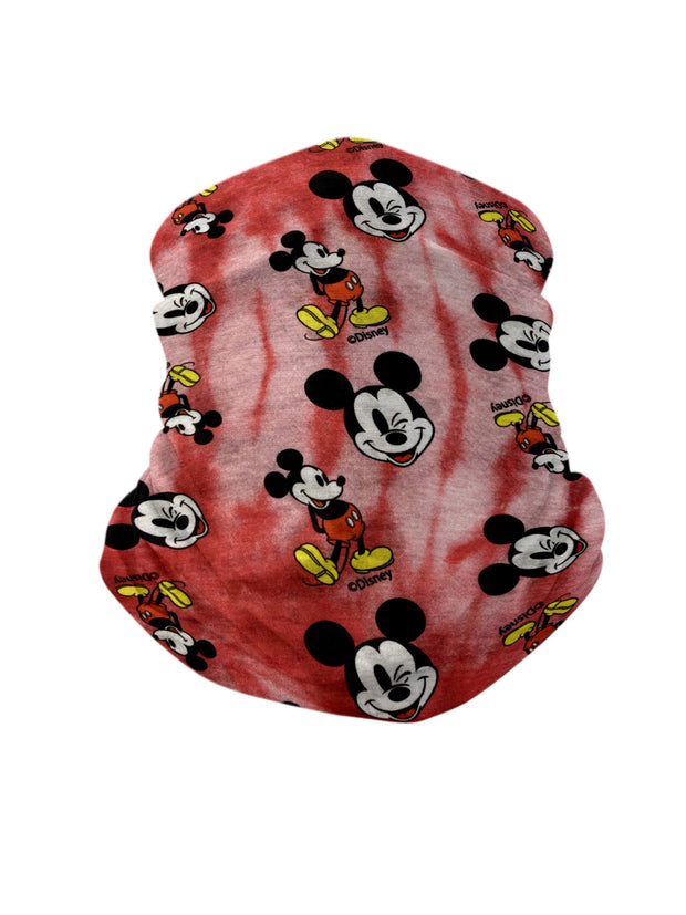 "Disney Mickey Mouse 18"" Duffel Bag Carry-On w/ Kids Mickey Face Neck Gaiter Set"