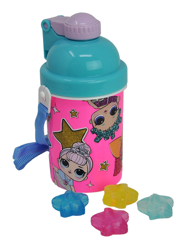 LOL Surprise Water Bottle w/ Star Shaped Reusable Ice Cubes 14oz