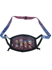 LOL Surprise Girls 4 PC Face Masks & Straps w/ OMG Neck Gaiter Bandana