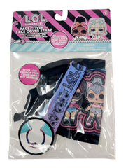 Kids Girls LOL Surprise Reusable Face Mask Cover Black Kitty w/ Removable Strap