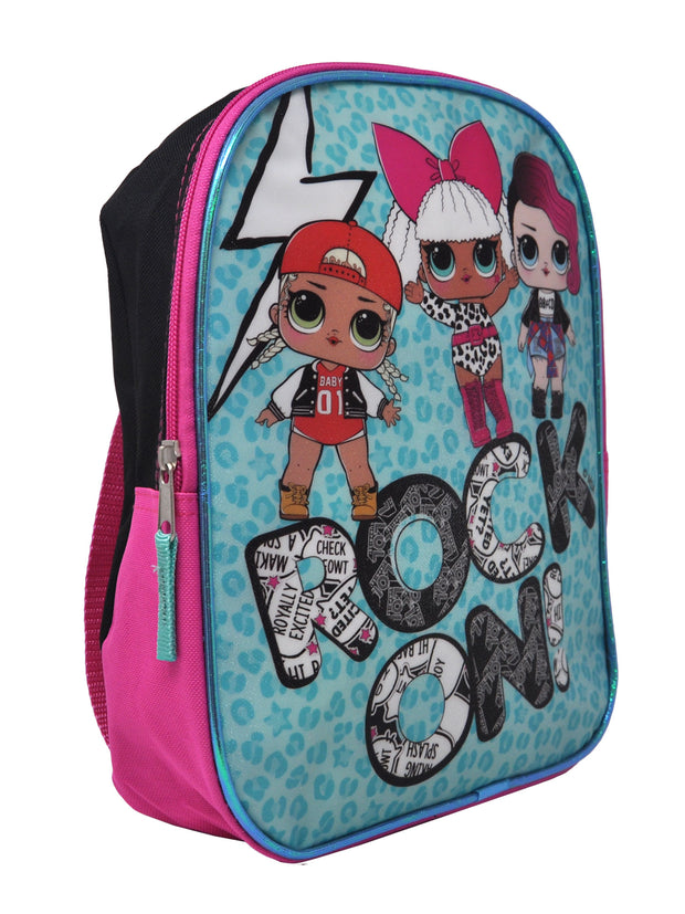 "Girls LOL Surprise Small 11"" Backpack w/ Grab-n-Go Play Pack Markers Crayons"