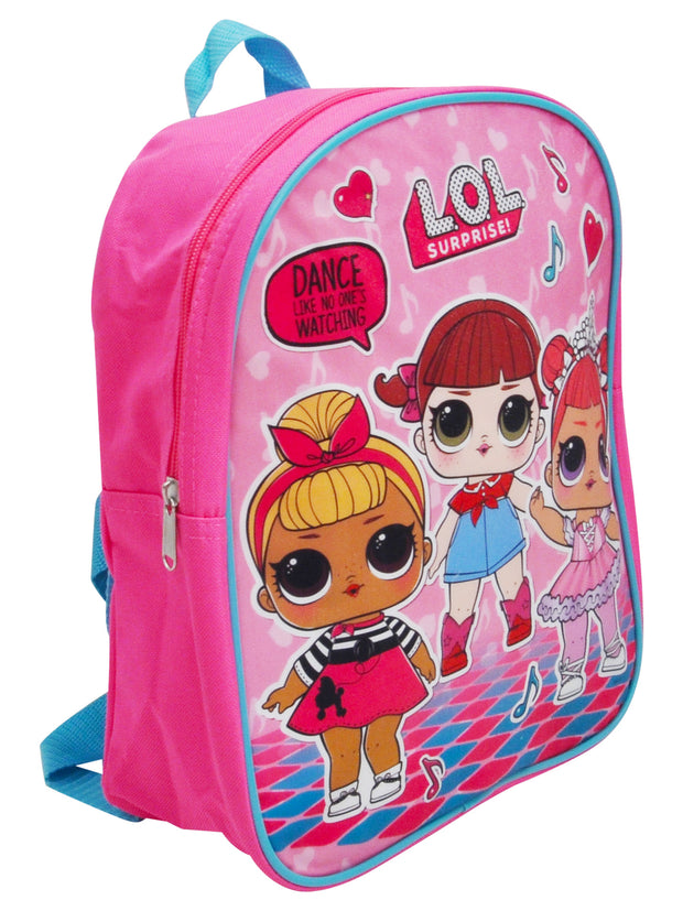 Girls LOL Surprise! Small Backpack Pink 12""