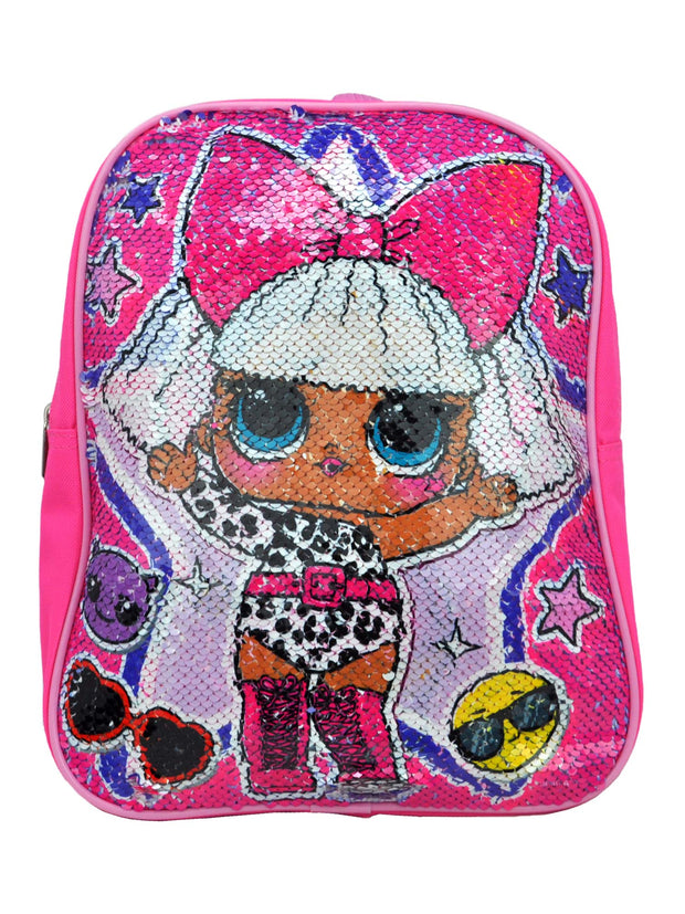 "LOL Surprise Mini Reversible Sequin 12"" Backpack w/ Play Pack Grab-n-Go Markers"