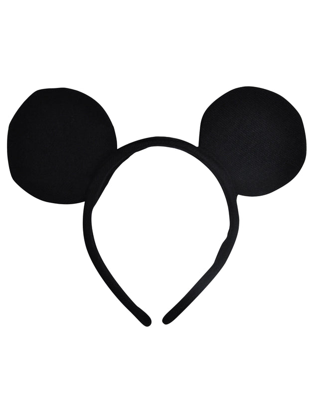Boys Girls Kids Mickey Mouse Ears Headband Solid Black
