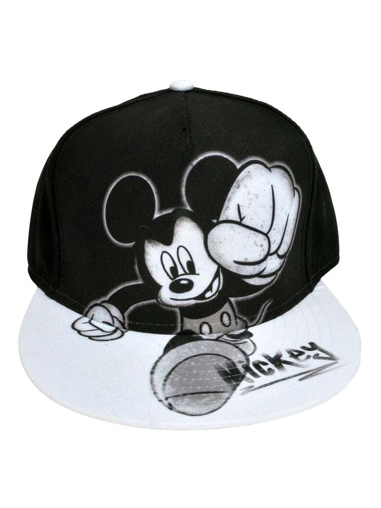 Men's Mickey Mouse Black Baseball Hat Cap