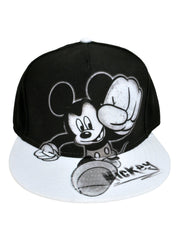 Men's Mickey Mouse Graphic Baseball Hat Cap - Snapback Black